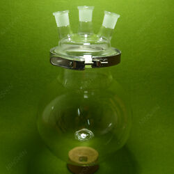 3-neck Reaction Flask,24/29,10000ml,separately Flaskround Bottom,with Clamp