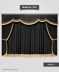 Saaria Home Theater Velvet Stage Curtain Drapery 7and039wx8and039h Backdrop Church Shop