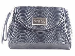 VERSACE PARFUMS FAUX LEATHER BLACK WRISTLET CLUTCH PURSE BAG NEW $28.75