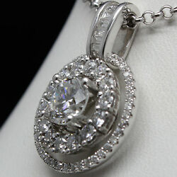 18k White Gold Pendant Round Cut Brilliant Diamonds Fancy Custom Made 2.33tdw