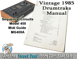 Vintage Sequential Circuits Model 400 Drumtraks Midi Guide Manual 1985 Mg400a
