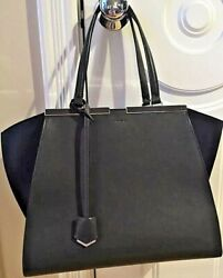 Nwt Fendi 3jours Shopper Forrest Green With Pink Interior Retail 2750