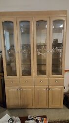 Cabinet And Entertainment Ceter Both Custom Made White Oak