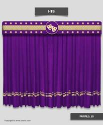 Saaria Home Decor Velvet Stage Curtains Event Hall Drapes & Backdrop 7'Wx8'H HT8