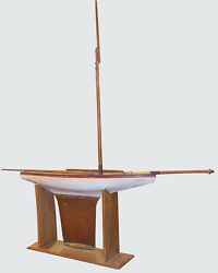 Monumental 53 Antique Pond Boat With Copper Keel And Cradle