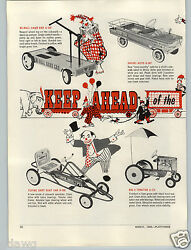 1965 Paper Ad 3 Pg Amf Pedal Car Hand Dart Scat Big 4 Tractor Dragster King Size