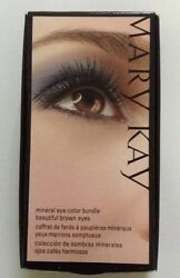 NEW MARY KAY Mineral Eye Color Bundle Beautiful BROWN EYES 3 EYESHADOW