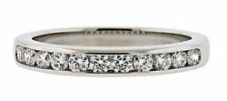 And Co. Channel Set Band Ring Size 6.5 Platinum Msrp 3575