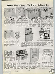 1940 Paper Ad Empire Toy Electric Range Stove Oven Little Lady Hoosier Cabinet