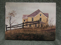 March Winds Barn Canvas Yellow Home Decor Billy Jacobs Farm House Country Small