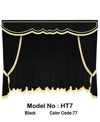 Saaria HT-7 Movie Home Theater Decor Event Hall Stage Velvet Curtain 10'W x 8'H