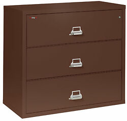 Office Brown 3 Drawer UL Class 350 1 hour Fireproof Lateral 44
