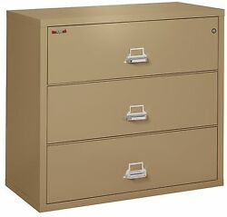 Office Sand 3 Drawer UL Class 350 1 hour fireproof Lateral 44