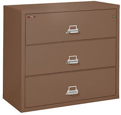 Office Tan 3 Drawer UL Class 350 1 hour fireproof Lateral 44