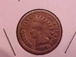 1863 P Indian Head Cent - Cleaned - G - See Pics - N4451