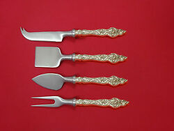 Les Six Fleurs By Reed And Barton Sterling Silver Cheese Serving Set 4pc Custom