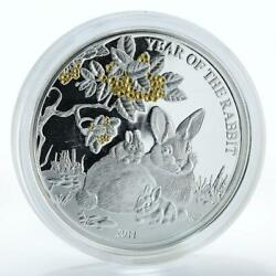 Togo 1000 Francs Year Of The Rabbit Chinese Calendar Animals Silver Coin 2011