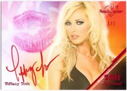 Toth 2011 Benchwarmer Limited Kiss 1/1 Red Foil Card Auto Real Lipstick