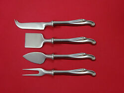 Silver Surf By Stieff Sterling Silver Cheese Serving Set 4 Piece Hhws Custom