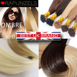 100 Stick Tip I Tip Hair Extensions Ombre Dip Dye Root Fade Human Remy Hair