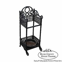Bradley And Hubbard Antique Cast Iron Cane Stand