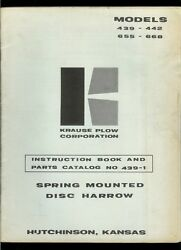 Krause Plow 439 442 655 668 Disc Harrow Ownerand039s Manual And Illustrated Parts List