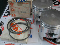 Oe Suzuki T200 Invader Tc200 Pistons And Ring Sets 2 Nos 12110-10000