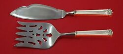 Trianon By International Sterling Silver Fish Serving Set 2 Piece Custom Hhws