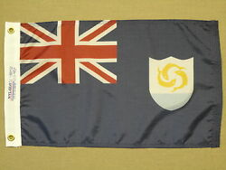 Anguilla Indoor Outdoor Dyed Nylon Boat Flag Grommets 12 X 18