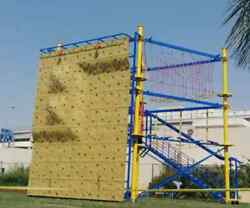 65'x16'x26' Commercial Rock Climbing Wall Obstacle Structure We Finance Rope