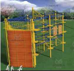 65'x25'x40' Commercial Rock Climbing Wall Obstacle Course Structure We Finance