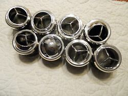 8x Chrome Round Tri-vane A/c Heater Vent Air Outlet Louver For 2 Hose-new-d26