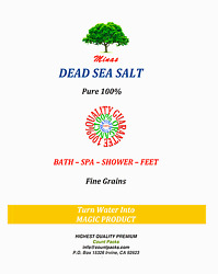 Dead Sea Salt Fine Grain Pure 100 Free Shipping 5 Lb Natural From Holly Land