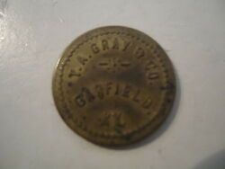 Vintage T. A. Gray And Co. Garfield, Kentucky Good For 10 In Merchandise Token