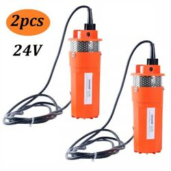 Set Of 2 Farm And Ranch Solar Powered Submersible Dc Water Well Pump 24v 230ft Us