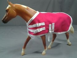 6 Pack of Neon Colored Model Horse Tack Blankets Fits Breyer