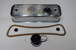 New Polished Alloy Valve Cover Mga Mgb 1955-80 Cap + Gasket Hardware Pc