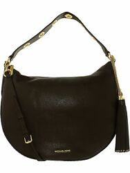 Michael Kors Women's Large Brooklyn Convertible Leather Shoulder Bag Hobo
