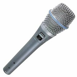 Shure BETA 87A Supercardioid Condenser Microphone for Handheld Vocal Application