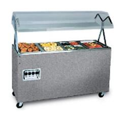 Vollrath T38729 3 Well Granite Hot Food Steam Table Mobile W/ Storage
