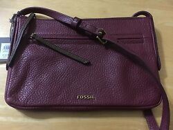 Authentic Fossil Leather Jenna  Small Cross Body Bag FINAL SALE!