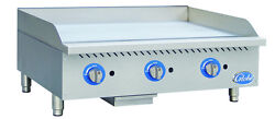 Globe Gg36g 36 Counter Top Natural Gas Griddle With Manual Controls