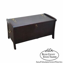 Antique Arts And Crafts Bridal Blanket Chest