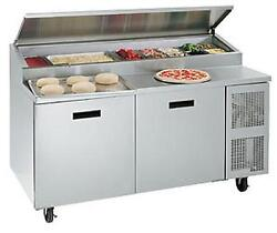 Randell 8260N-290-PCB 60in Wide Two Door Pizza Prep Table with Cutting Board