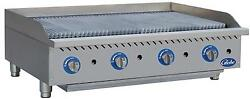 Globe Gcb48g-cr 48 Counter-top Natural Gas Charbroiler Cast Iron Radiant