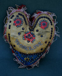 Antique English Valentine Pin Cushion To One I Love Love Token Romantic Gift