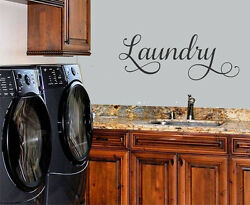 LAUNDRY WALL DECAL LETTERING VINYL WALL DECAL STICKER HOME LAUNDRY ROOM DECOR