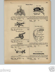 1951 Paper Ad Nosco Motorcycle Cop Police Cycle Cannon Train Zippy Zephyr