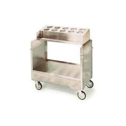 Lakeside 403 Stainless Steel Enclosed Style Tray And Silver Cart