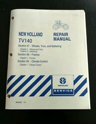 New Holland TV140 Tractor section 37 39 50  Service Shop Repair Manual climate